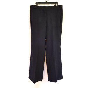 LOFT Size 12 Kate Fit Blue Dress Pants Wide Leg
